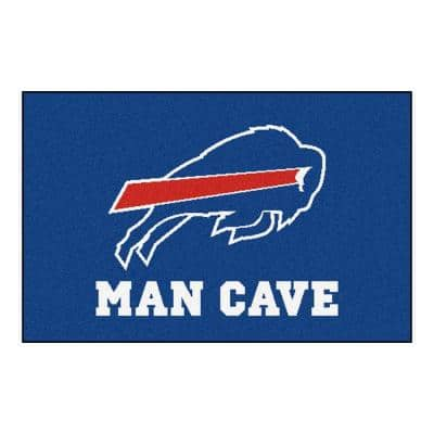 NFL Buffalo Bills Blue Man Cave 2 ft. x 3 ft. Area Rug