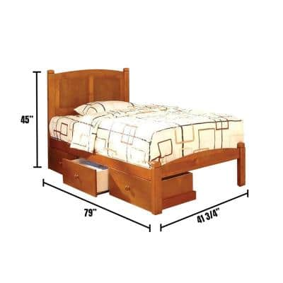 Cara in Oak Twin Bed