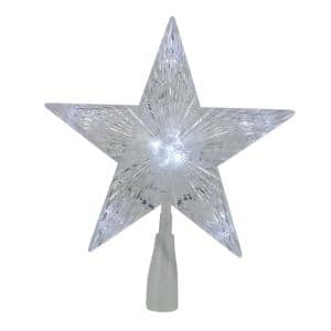 10 in. LED Lighted 5 Point Star Christmas Tree Topper with Clear Lights