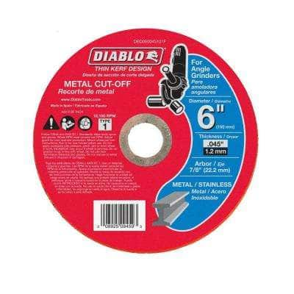 6 in. x 0.045 in. x 7/8 in. Thin Kerf Metal Cut-Off Disc