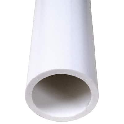 2 in. x 10 ft. Schedule 40 PVC DWV Plain End Pipe