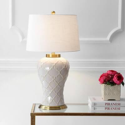 Arthur 29 in. Cream Ceramic Table Lamp