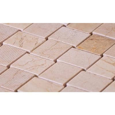 Crema Marfil 10.9 in. x 10.9 in. Honed Marble Mosaic Floor and Wall Tile (5-Pack) (4.13 sq. ft./Case)
