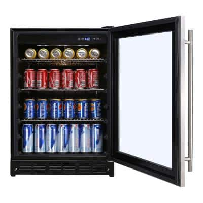 Beverage 23.4 in. 154 (12 oz.) Can Beverage Cooler, Stainless Steel