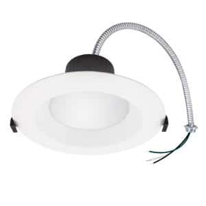 6 in. (3000K-5000K) Selectable CCT Integrated LED White Recessed Downlight Trim