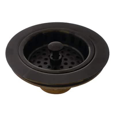 Heavy-Duty Kitchen Sink Waste Basket in Oil Rubbed Bronze