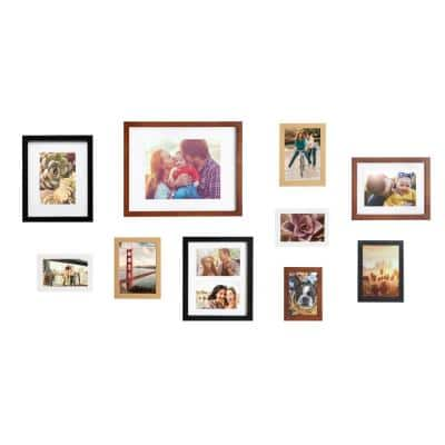Gallery Multi/Brown Picture Frames (Set of 10)