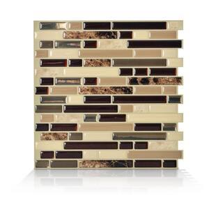 Bellagio Multi 10.06 in. W x 10 in. H Peel and Stick Self-Adhesive Decorative Mosaic Wall Tile Backsplash (4-Pack)