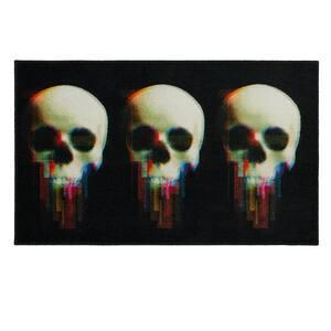 Digital Skulls Black 2 ft. 6 in. x 4 ft. 2 in. Halloween Indoor Area Rug