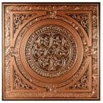 Montroy 2 ft. x 2 ft. Lay-in or Glue-up Ceiling Tile in Antique Copper (48 sq. ft. / case)