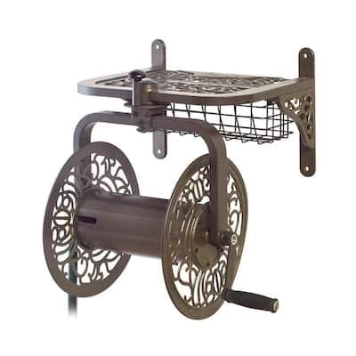 Decorative Cast Aluminum Navigator Rotating Garden Hose Reel