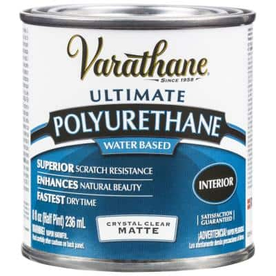 8 oz. Clear Matte Water-Based Interior Polyurethane (4-Pack)