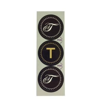 T Monogram Decorative Bathroom Sink Stopper Laminates (Set of 3)