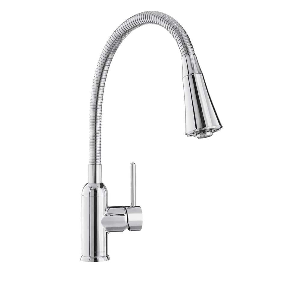 Glacier Bay Bodell Single-Handle Pulldown Laundry Faucet in Chrome