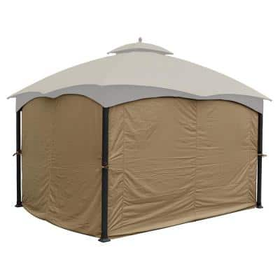 10 ft. x 12 ft. Universal Privacy Curtain for Gazebo (4-Sides Curtain Only)