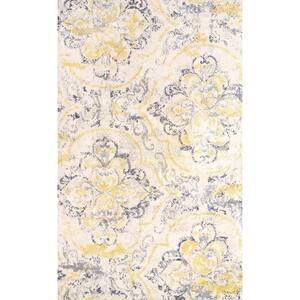 Cortney Floral Ivory 9 ft. x 12 ft. Area Rug