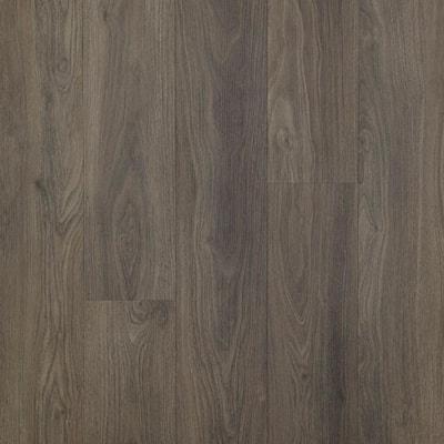 Defense+ 7.5 in. W Dark Chocolate Walnut Antimicrobial Click Lock Luxury Vinyl Plank Flooring (17.43 sq. ft./case)