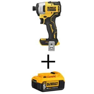 ATOMIC 20-Volt MAX Cordless Brushless Compact 1/4 in. Impact Driver with (1) 20-Volt 5.0Ah Battery