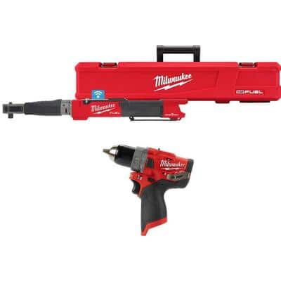M12 FUEL One-Key 12-Volt Lithium-Ion Brushless Cordless 1/2 in. Digital Torque Wrench and 1/2 in. Hammer Drill (2-Tool)