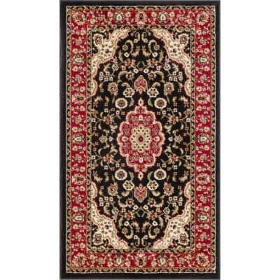 Barclay Medallion Kashan Red 2 ft. x 4 ft. Traditional Area Rug