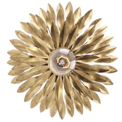 Broche 1-Light Antique Gold Sconce