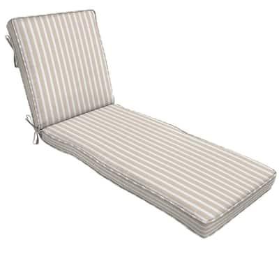 22 x 74 Sunbrella Shore Linen Outdoor Chaise Lounge Cushion