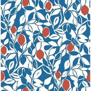 Loretto Blue Citrus Blue Wallpaper Sample