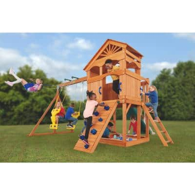 Timber Valley Playset - Green Slide and Blue Accessories-(Choose from 6 Accessory Colors)