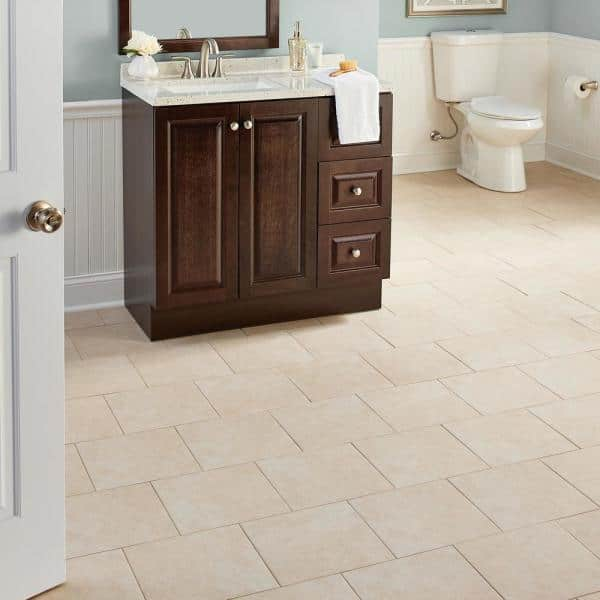 Trafficmaster Laguna Bay 12 In X 12 In Cream Ceramic Floor And Wall Tile 14 53 Sq Ft Case Uf6z The Home Depot