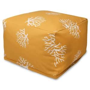 Yellow Coral Indoor/Outdoor Ottoman Cushion