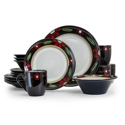 Homestead 16-Piece Casual Brown Stoneware Dinnerware Set (Service for 4)