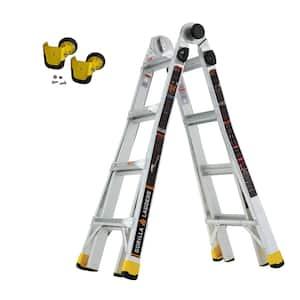 18 ft. Reach MPXA Multi-Position Ladder/MPX Wheel Kit (Combo-Pack)