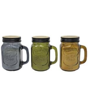 10 oz. Mason Jar Citronella Candle with Print