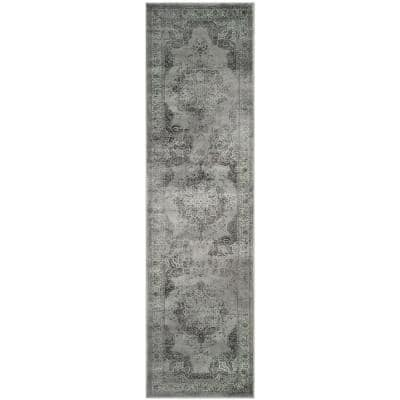 Safavieh Vintage Gray Multi 2 Ft X 12 Ft Runner Rug Vtg117 2770 212 The Home Depot