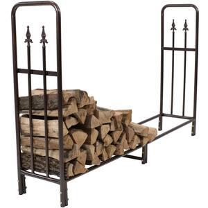 6 ft. Bronze Firewood Storage Log Rack