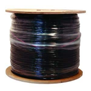 1,000 ft. 18 RG6 Quad Shield CU CATV CM/CL2 Coaxial Cable in Black