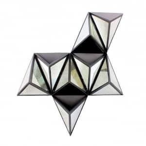 Mariana Black Modern Diamante Wooden Wall Decor