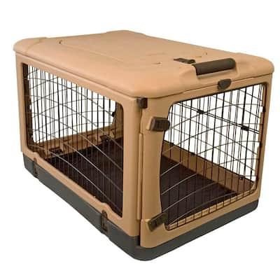 27 in. x 18.25 in. x 21.75 in. The Other Door Steel Crate