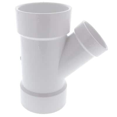 3 in. x 3 in. x 2 in. PVC DWV 45-Degree All Hub Wye Fitting