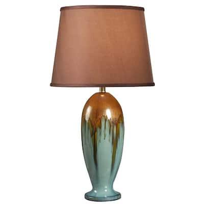 Tucson 32 in. H Teal Ceramic Table Lamp