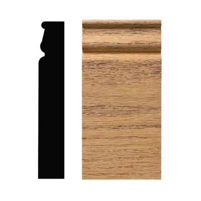 888PB 1-1/16 in. x 3-1/4 in. x 6-1/2 in. Red Oak Plinth Block Moulding