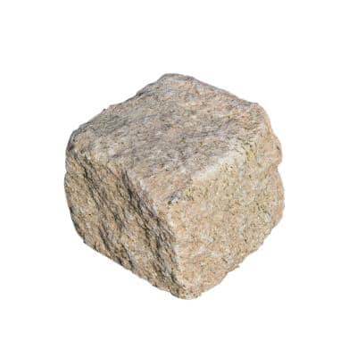 Cobblestone 4 in. x 4 in. x 4 in. Tan Granite Edging (250-Pieces/83 Linear ft./Pallet)