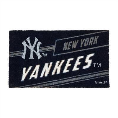16 in. x 28 in. New York Yankees MLB Coir Punch Mat
