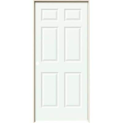 36 in. x 80 in. Colonist White Painted Right-Hand Smooth Solid Core Molded Composite MDF Single Prehung Interior Door