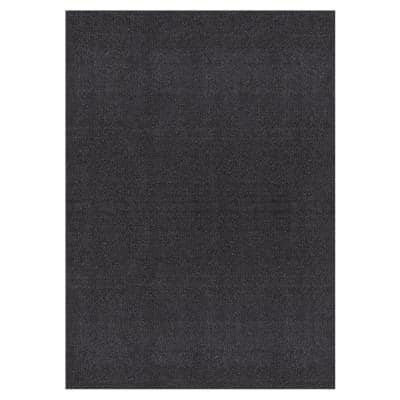 Grey Grass 7 ft. 10 in. x 9 ft. 10 in. Gray Artificial Grass Area Rug