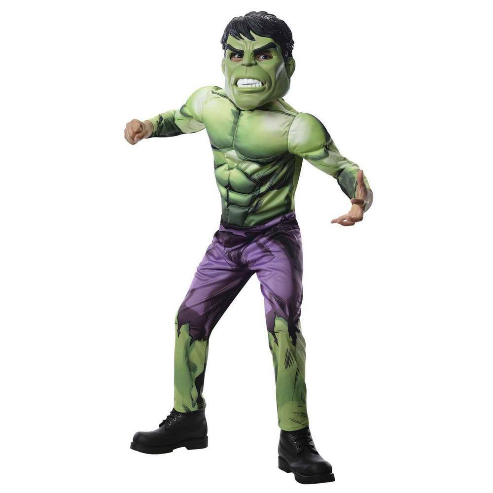 Deluxe Incredible Hulk Boys Fancy Dress Avengers Superhero Kids Childs Costume