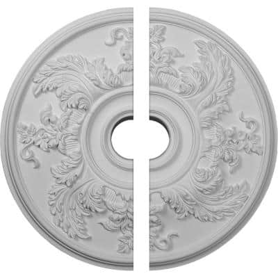 23-5/8 in. x 4-5/8 in. x 1-7/8 in. Acanthus Twist Urethane Ceiling Medallion, 2-Piece (Fits Canopies up to 8-3/8 in.)