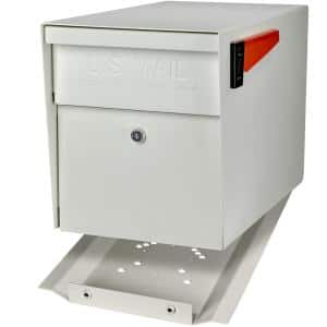 Locking Post-Mount Mailbox with High Security Reinforced Patented Locking System, White