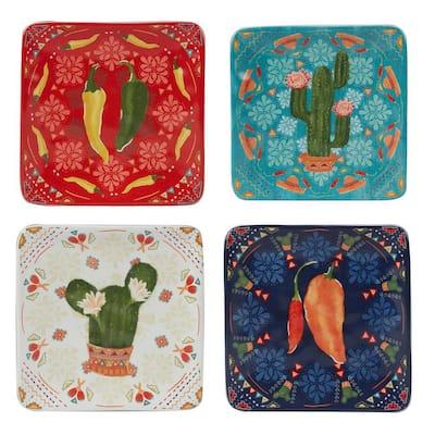 Fiesta Multicolored Canape Plates (Set of 4)