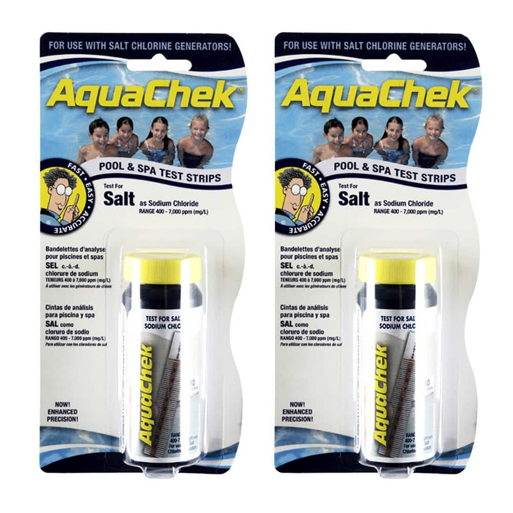 Aquachek Pool Salt Test Strips 2 Pack 561140 02 The Home Depot